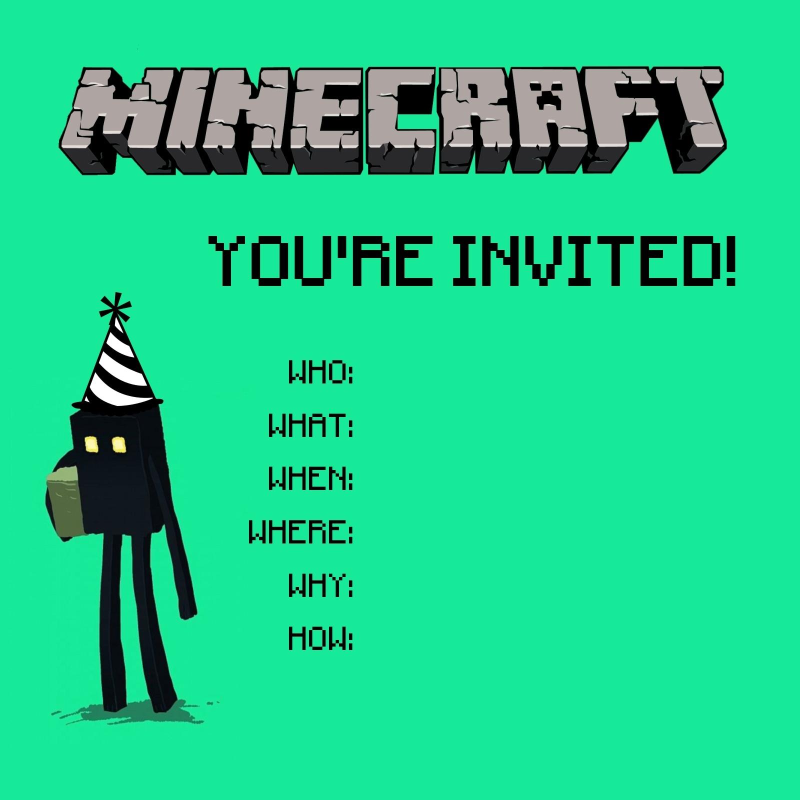 Ben Comics » minecraft invitation 1